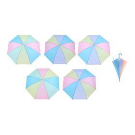 Зонт детский полуавтоматический 'Радуга пастель', r=46см, цвет МИКС Ош