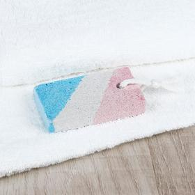 Пемза для педикюра, с подвесом, 8,5 × 4,5 см, цвет белый/синий/красный Ош