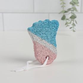 Пемза для педикюра «Ступня», 9 × 6 см, цвет белый/синий/красный Ош