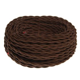 Провод Bironi, 2*1 ,5, витой, коричневый  1шт-50м