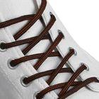 Шнурки для обуви, круглые, d = 4,5 мм, 120 см, пара, цвет чёрно-коричневый