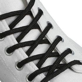 Шнурки для обуви круглые, d = 4 мм, 120 см, пара, цвет чёрный