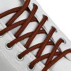 Шнурки для обуви, круглые, d = 4,5 мм, 120 см, цвет коричневый