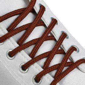 Шнурки для обуви, круглые, d = 4,5 мм, 120 см, цвет коричневый Ош