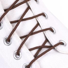 Шнурки для обуви, круглые, d = 3 мм, 60 см, пара, цвет коричневый