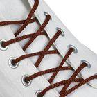 Шнурки для обуви круглые, d = 3 мм, 70 см, пара, цвет коричневый