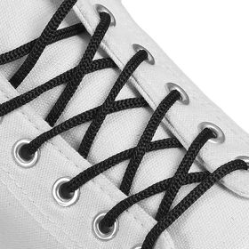 Шнурки для обуви, круглые, d = 3 мм, 100 см, цвет чёрный Ош