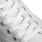 Шнурки для обуви, плоские, 8 мм, 120 см, цвет белый