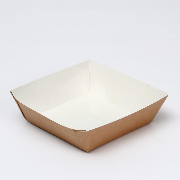 Упаковка для картофеля фри 13,9 х 13,9 х 4,2 см, 0,55 л