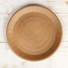 Бумажная тарелка крафт 23 х 23 см - Фото 2