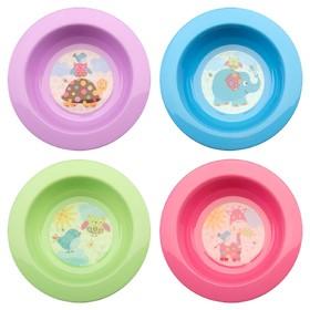 Миска детская для первых блюд, 200 мл, цвета МИКС