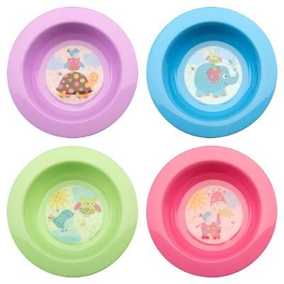 Миска детская для первых блюд, 200 мл, цвета МИКС - Фото 1