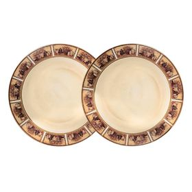 """Набор из десертных тарелок """"Натюрморт"""", 2 предмета, 20,5 см"""
