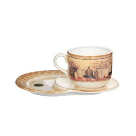 Чашка на маленьком подносе «Натюрморт», 500 мл