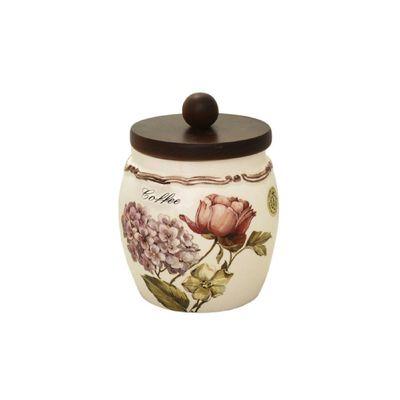 Банка для сыпучих продуктов с деревянной крышкой «Сады Флоренции», кофе, 500 мл - Фото 1
