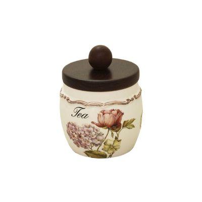 Банка для сыпучих продуктов с деревянной крышкой «Садовые цветы», чай, 500 мл - Фото 1