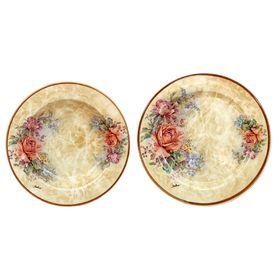 Набор тарелок «Элианто»: суповая, 23,5 см + обеденная, 25 см