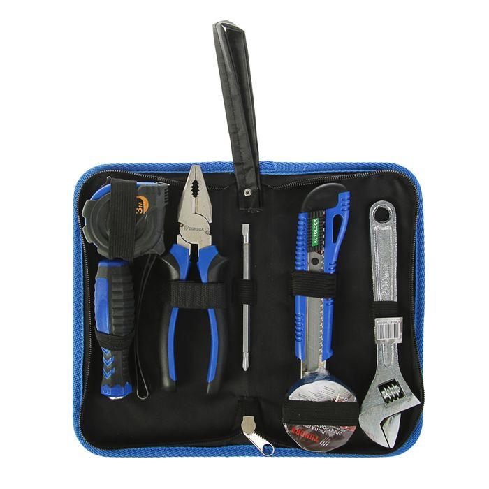Набор инструментов в кейс-папке TUNDRA, универсальный, 6 предметов