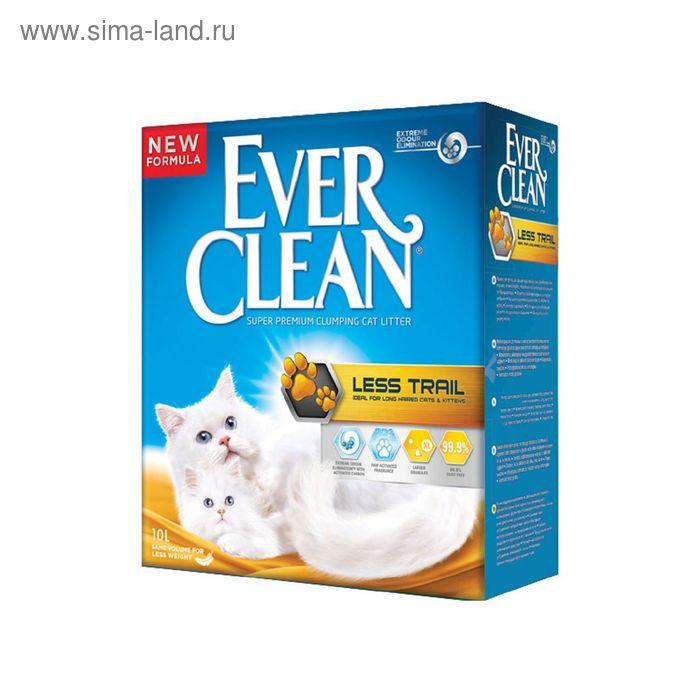Наполнитель комкующийся Ever Clean Less Trail для котят и длинношерстных кошек, 10 л