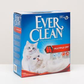 Наполнитель комкующийся Ever Clean Multiple Cat для нескольких кошек, 10 л