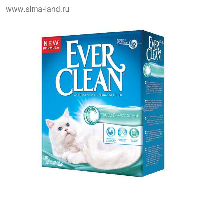 Наполнитель комкующийся Ever Clean Aqua Breeze Scent  с ароматом морской свежести, 10л