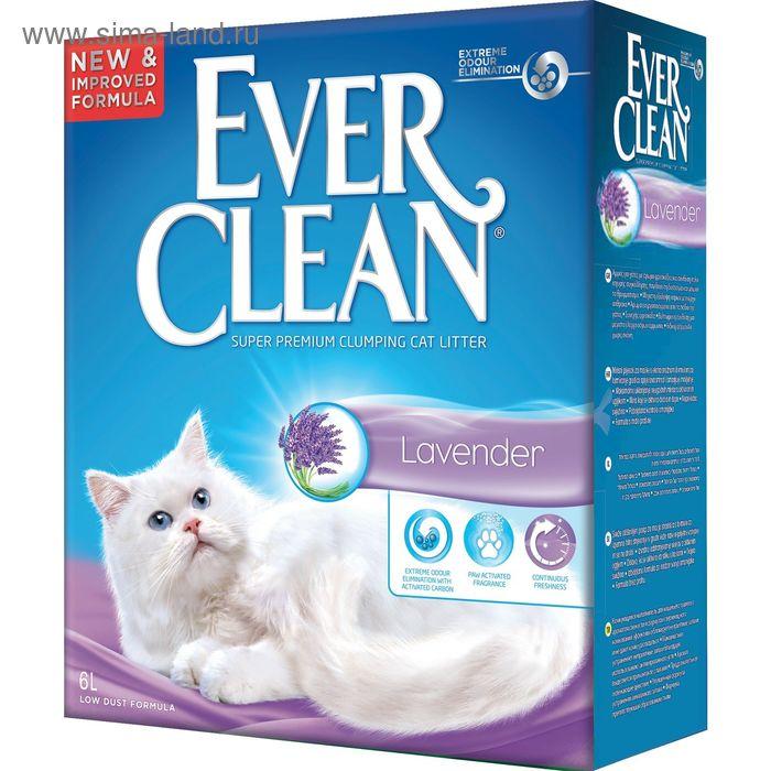 Наполнитель комкующийся Ever Clean Lavender с ароматом лаванды, 6 л