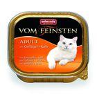 Влажный корм Animonda VOM FEINSTEN ADULT для кошек, с птицей и телятиной, ламистер, 100 г