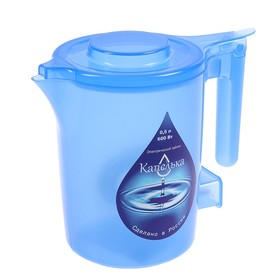 Чайник электрический 'Капелька', пластик, 0.5 л, 600 Вт, синий Ош