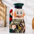 Штоф фарфоровый «Пограничник», 0.4 л, в упаковке книге