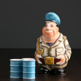 Набор фарфоровый: штоф «Дембель ВДВ», 0.5 л + 3 рюмки, гильза