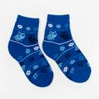 Носки детские махровые, цвет васильковый, размер 16-18