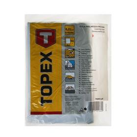 Плёнка защитная TOPEХ, 4x5 м, 20 мкм, полиэтиленовая