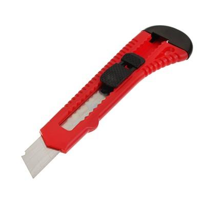 Нож универсальный Top Tools, корпус пластик, квадратный фиксатор, 18 мм