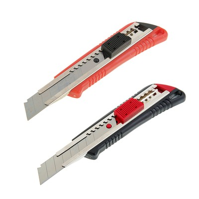 Нож универсальный Top Tools, корпус пластик, квадратный фиксатор, усиленный, 18 мм