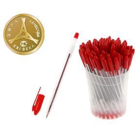 Ручка шариковая «Стамм» VeGa, узел 0.7 мм, чернила красные на масляной основе, стержень 152 мм