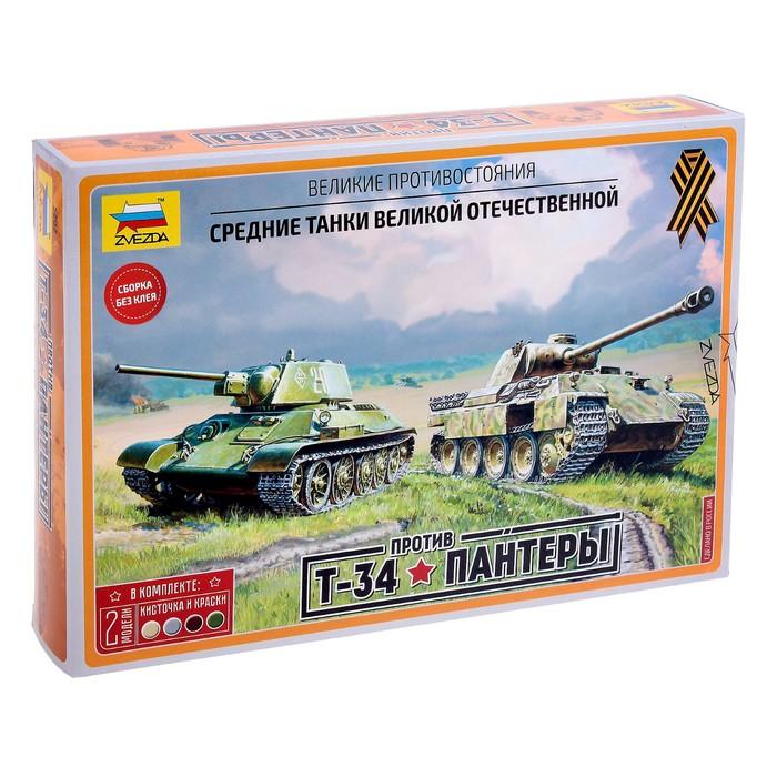 """Набор сборных моделей """"Великие противостояния: Т-34/76 против """"Пантеры"""""""