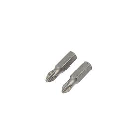 Биты TUNDRA, намагниченные, сталь CrV, PH2 х 25 мм, 2 шт.