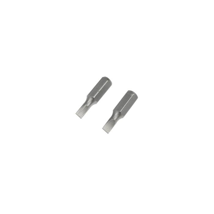 Биты TUNDRA, намагниченные, сталь CrV, SL4 х 25 мм, 2 шт.
