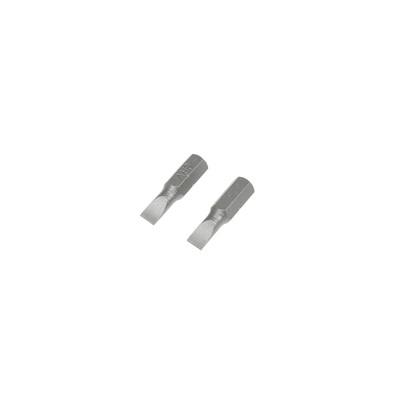 Биты TUNDRA, намагниченные, сталь CrV, SL5 х 25 мм, 2 шт.