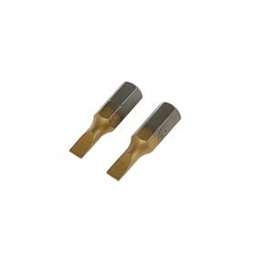 Биты TUNDRA, намагниченные, сталь S2, TiN, SL4 х 25 мм, 2 шт. Ош