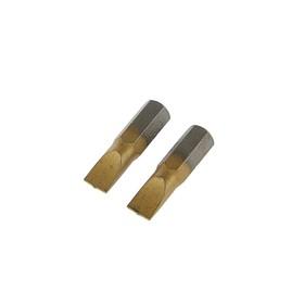 Биты TUNDRA, намагниченные, сталь S2, TiN, SL6 х 25 мм, 2 шт. Ош