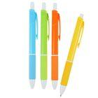 Ручка шариковая, автоматическая, 0.5 мм, Vinson «Неон», с резиновым держателем, стержень масляный синий, МИКС