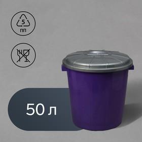 Бак хозяйственно-бытовой «Колор», 50 л, с крышкой, цвет МИКС Ош