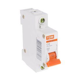 Выключатель автоматический TDM ВА47-63, 1п, 10 А, 4.5 кА Ош