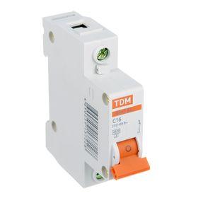 Выключатель автоматический TDM ВА47-63, 1п, 16 А, 4.5 кА Ош