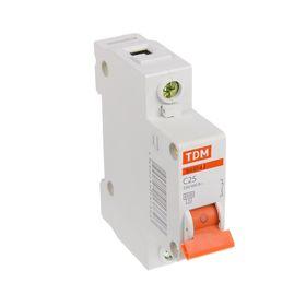 Выключатель автоматический TDM ВА47-63, 1п, 25 А, 4.5 кА Ош