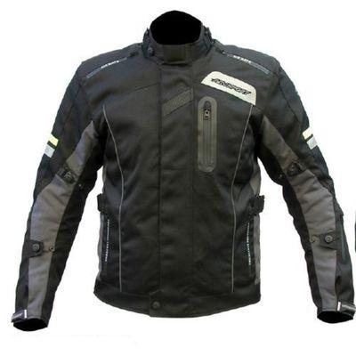 Куртка мотоциклетная текстильная Voyager, чёрный/антрацит, S