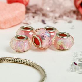 Бусина AB, цвет розовый Ош