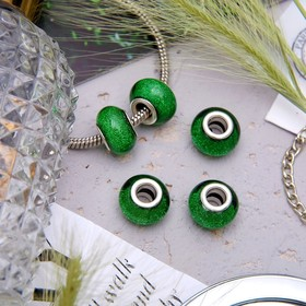 Бусинка, блестка, цвет зеленый Ош