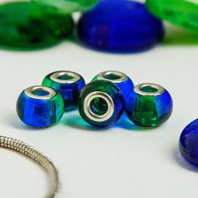 Бусинка 'Леденец', цвет сине-зеленый Ош